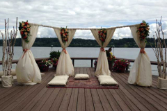 Three sided outdoor mandap